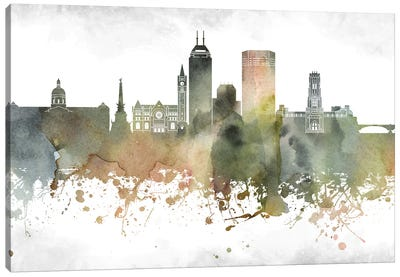 Indianapolis Skyline Canvas Art Print
