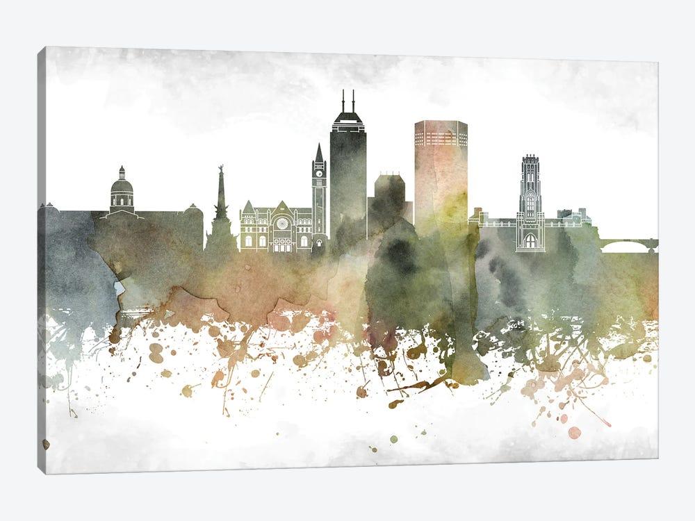 Indianapolis Skyline by WallDecorAddict 1-piece Canvas Wall Art