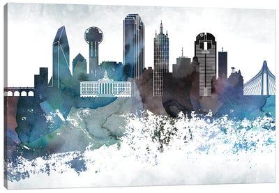 Dallas Bluish Skylines Canvas Art Print