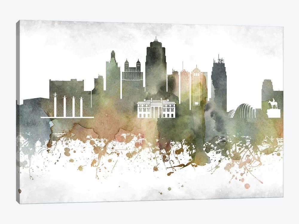 Kansas City Skyline by WallDecorAddict 1-piece Art Print