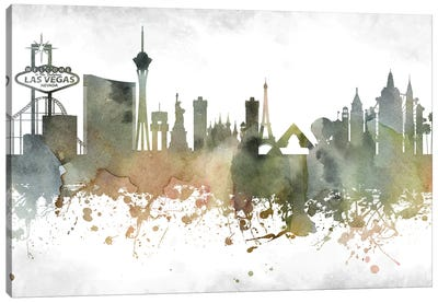Las Vegas Skyline Canvas Art Print