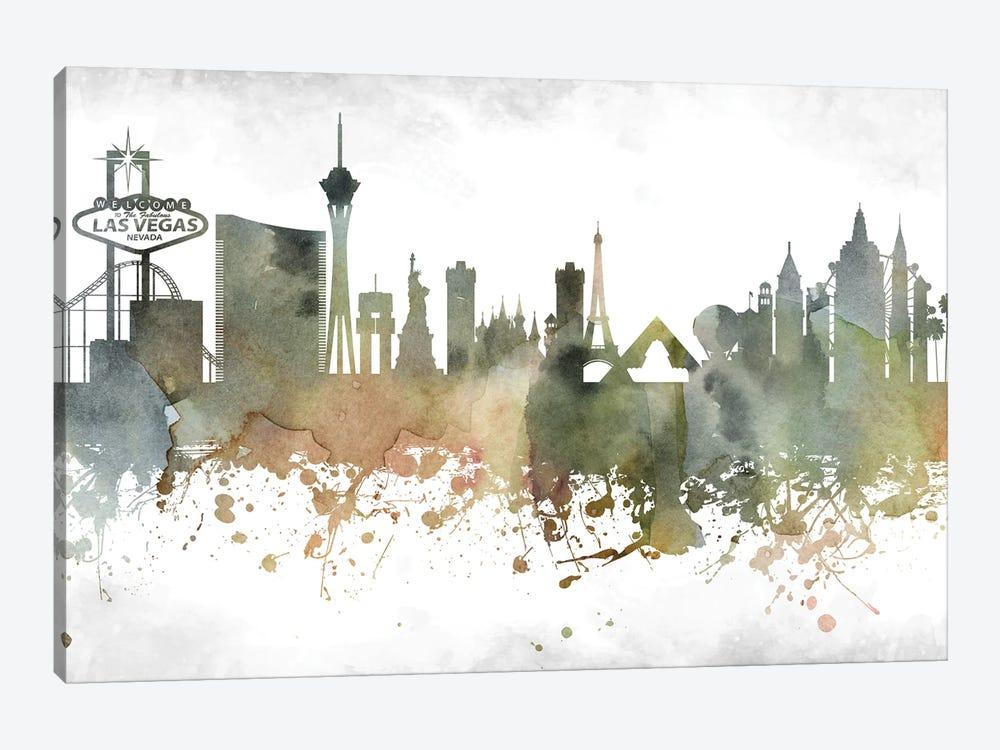 Las Vegas Skyline Art Print By Walldecoraddict Icanvas