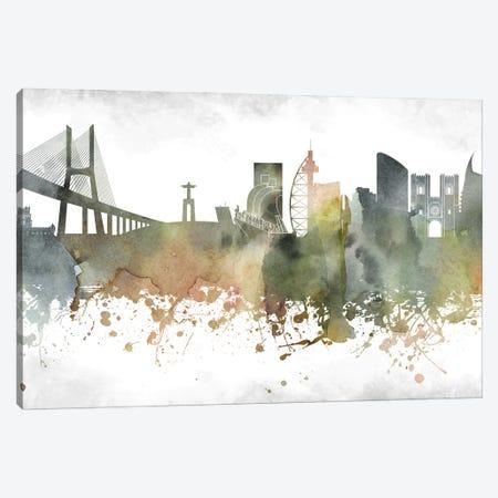 Lisbon Skyline Canvas Print #WDA937} by WallDecorAddict Canvas Wall Art