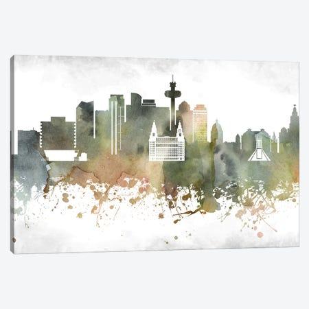 Liverpool Skyline Canvas Print #WDA938} by WallDecorAddict Canvas Print