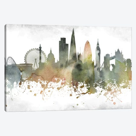 London Skyline Canvas Print #WDA939} by WallDecorAddict Canvas Art Print