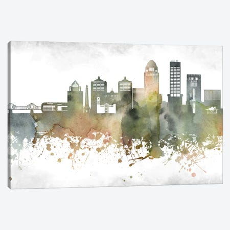 Louisville Skyline Canvas Print #WDA941} by WallDecorAddict Canvas Art