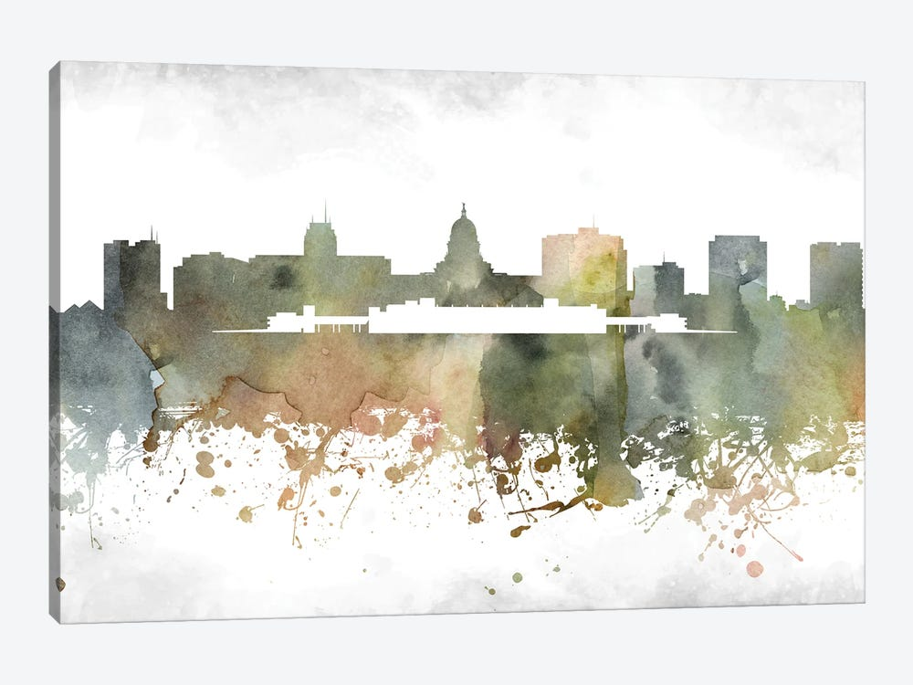 Madison Skyline by WallDecorAddict 1-piece Canvas Wall Art