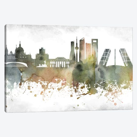 Madrid Skyline Canvas Print #WDA944} by WallDecorAddict Canvas Art Print