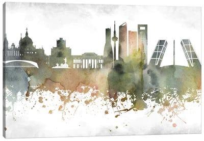Madrid Skyline Canvas Art Print