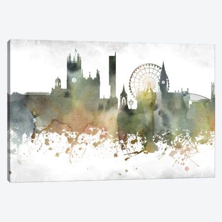Manchester Skyline Canvas Print #WDA945} by WallDecorAddict Art Print