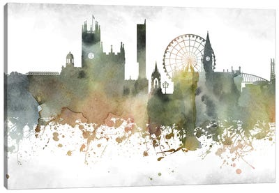 Manchester Skyline Canvas Art Print