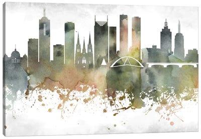 Melbourne Skyline Canvas Art Print