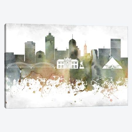 Memphis Skyline Canvas Print #WDA948} by WallDecorAddict Canvas Artwork