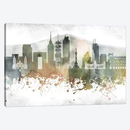 Mexico City Skyline Canvas Print #WDA949} by WallDecorAddict Canvas Artwork