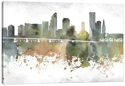 Miami Skyline Canvas Art Print