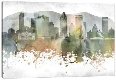 Montreal Skyline Canvas Art Print