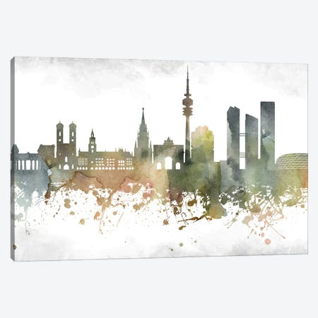 Munich Skyline Canvas Print #WDA957} by WallDecorAddict Canvas Art