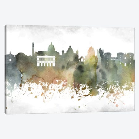 Naples Skyline Canvas Print #WDA958} by WallDecorAddict Canvas Print