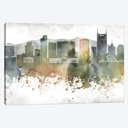 Nashville Skyline Canvas Print #WDA959} by WallDecorAddict Canvas Print