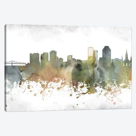 New Orleans Skyline Canvas Print #WDA960} by WallDecorAddict Canvas Artwork