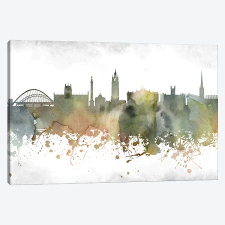 Newcastle Skyline Canvas Print #WDA962} by WallDecorAddict Canvas Artwork