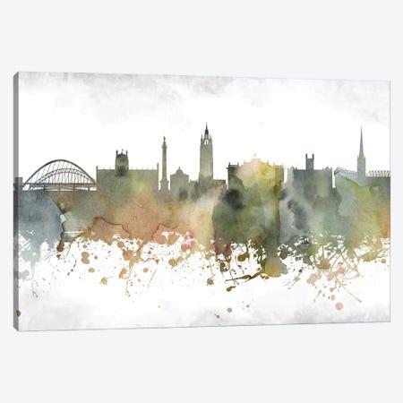 Newcastle Skyline Canvas Print #WDA962} by WallDecorAddict Canvas Artwork
