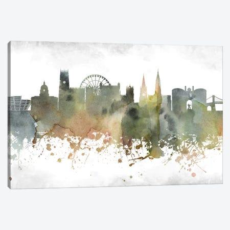 Nottingham Skyline Canvas Print #WDA964} by WallDecorAddict Art Print