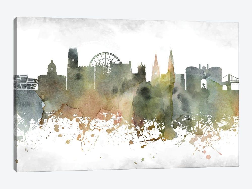 Nottingham Skyline by WallDecorAddict 1-piece Canvas Print