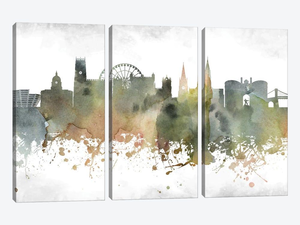 Nottingham Skyline by WallDecorAddict 3-piece Art Print