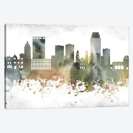 Omaha Skyline Canvas Print #WDA966} by WallDecorAddict Canvas Art Print
