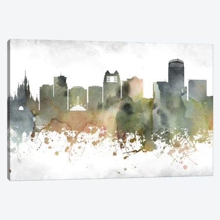 Orlando Skyline Canvas Print #WDA968} by WallDecorAddict Canvas Wall Art