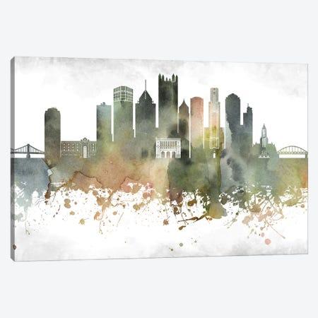 Pittsburgh Skyline Canvas Print #WDA976} by WallDecorAddict Canvas Wall Art