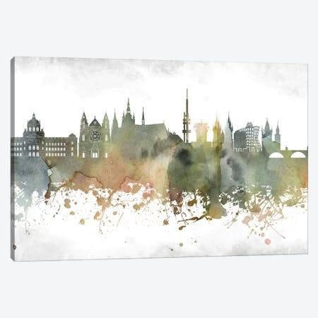 Prague Skyline Canvas Print #WDA978} by WallDecorAddict Canvas Print