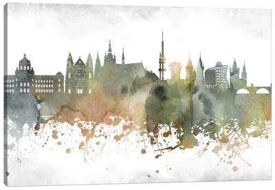 Prague Skyline Canvas Art Print