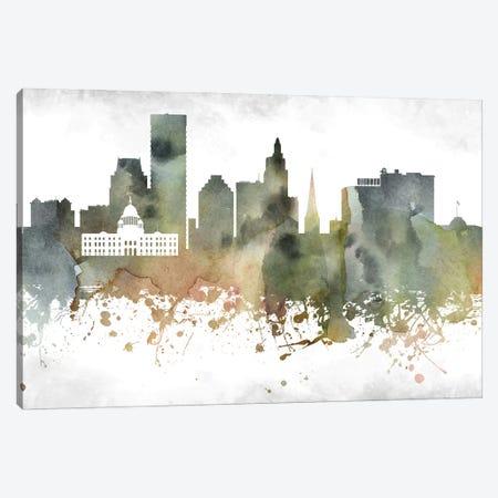 Providence  Skyline Canvas Print #WDA979} by WallDecorAddict Art Print
