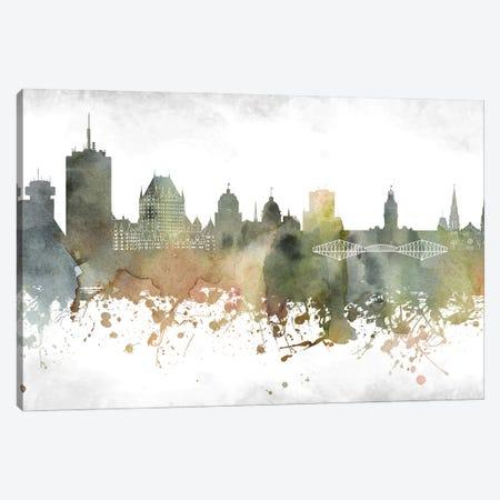 Quebec Skyline Canvas Print #WDA980} by WallDecorAddict Canvas Artwork