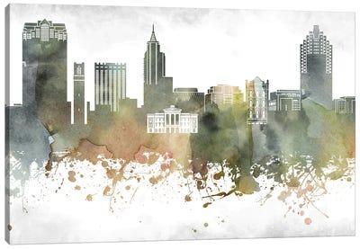 Raleigh Skyline Canvas Art Print