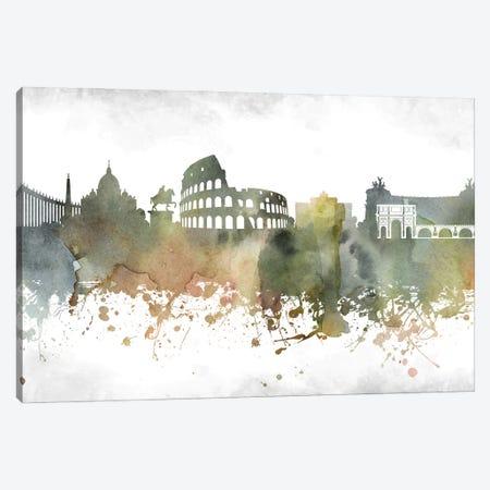 Rome Skyline Canvas Print #WDA985} by WallDecorAddict Canvas Print