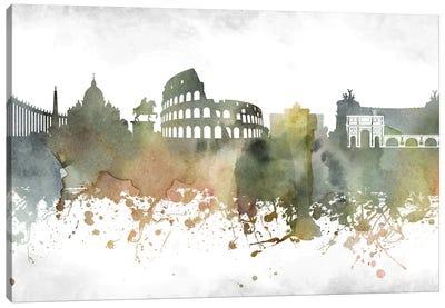 Rome Skyline Canvas Art Print