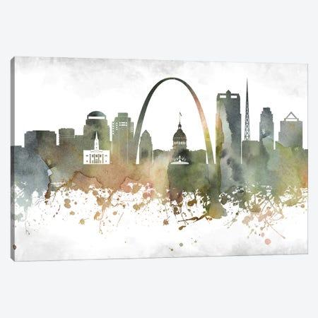 Saint Louis Skyline Canvas Print #WDA988} by WallDecorAddict Canvas Art