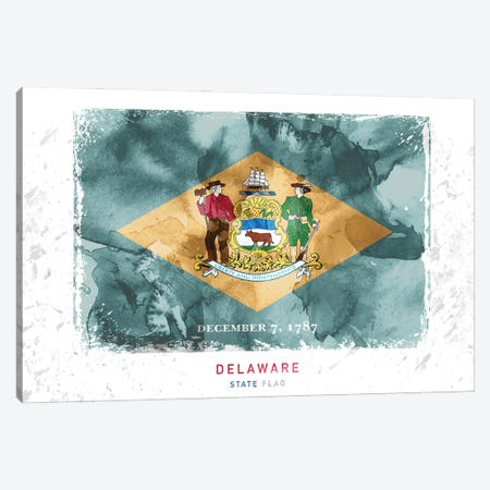 Delaware Canvas Print #WDA98} by WallDecorAddict Canvas Wall Art
