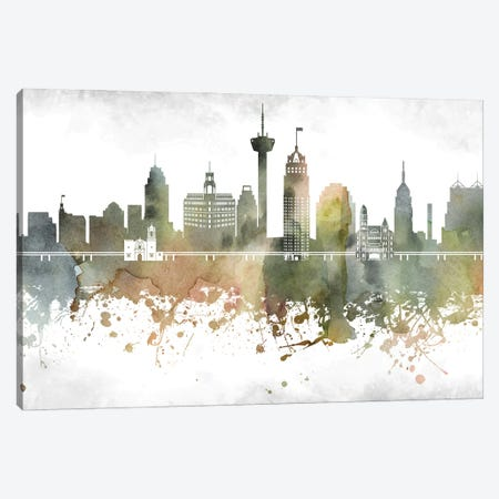 San Antonio Skyline Canvas Print #WDA990} by WallDecorAddict Canvas Print