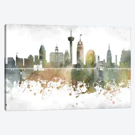 San Antonio Skyline Canvas Print #WDA990} by WallDecorAddict Canvas Print