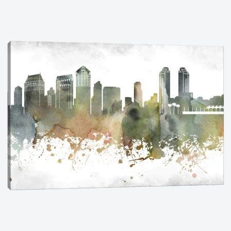 San Diego Skyline Canvas Print #WDA991} by WallDecorAddict Canvas Art Print