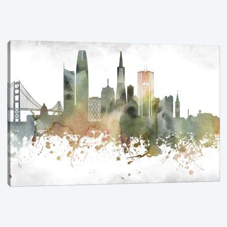 San Francisco Skyline Canvas Print #WDA992} by WallDecorAddict Canvas Print