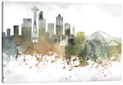 Seattle Skyline Canvas Art Print