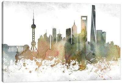 Shanghai Skyline Canvas Art Print