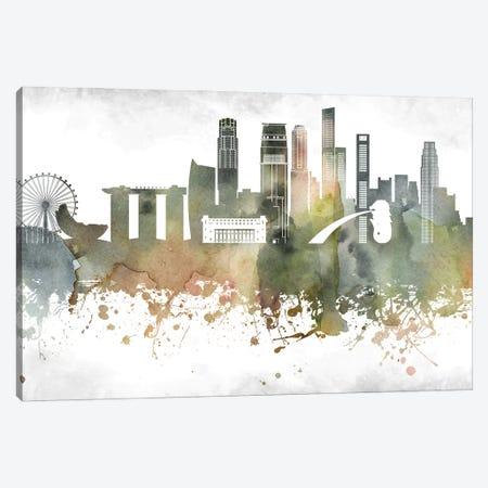 Singapore Skyline Canvas Print #WDA997} by WallDecorAddict Canvas Art