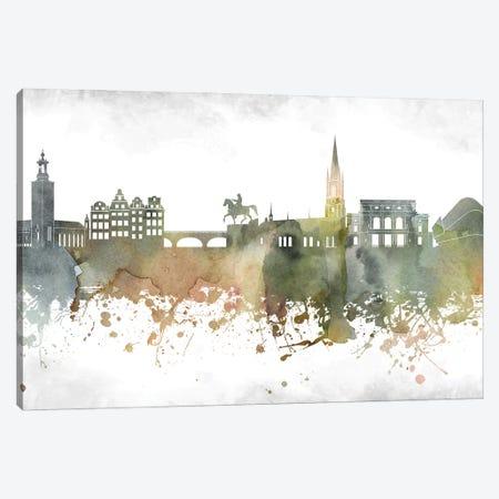 Stockholm Skyline Canvas Print #WDA998} by WallDecorAddict Art Print