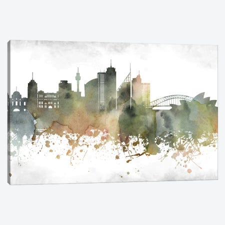 Sydney Skyline Canvas Print #WDA999} by WallDecorAddict Canvas Print